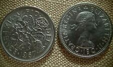 "2 - Coins - Sixpence For Wedding or Charm - ""Something Old Something New"""
