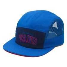 Vans Off The Wall Meshed 5 Panel Hat Mens Royal Blue Soft Crown Camper NWT