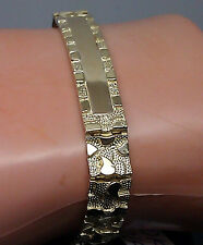 Brand New 10K Yellow Gold,Nugget ID Style Bracelet, Uniquely Designed Men/Women