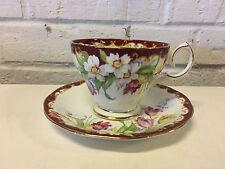 Vtg Shore & Coggins Bell China England Porcelain Cup & Saucer Floral Decoration