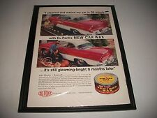 1956 PLYMOUTH SAVOY/ Du PONT CAR WAX ORIGINAL PRINT AD GARAGE ART COLLECTIBLE