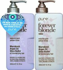 JUUCE PURE FOREVER BLONDE BATH (SHAMPOO) 300ML AND RINSE (CONDITIONER) 300ML F S