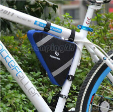 2015 Blue New Cycling Bike Bicycle Frame Front Tube Triangle Bag Quick Release