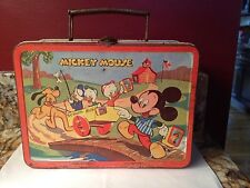 1954  Walt Disney Vintage Mickey Mouse & Donald Duck Lunch Box *RARE*