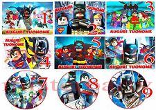 Cialda - Ostia per torte Lego Batman - Anche tonda e personalizzabile!