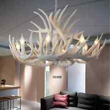8 Head Deer Antler Horn White High Quality Resin Candle Chandelier Lamp