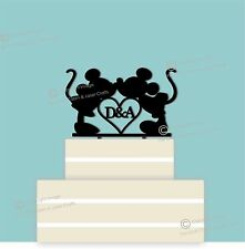 Disney Personalised Acrylic Wedding Cake Topper, Couple, Engagement, Anniversary