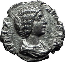 JULIA DOMNA 196AD Ancient Silver Roman Coin Diana Lucifera Torch Hope i60140