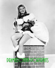 VERA-ELLEN 8X10 Lab Photo 1950s Santa Sweetie, Christmas Snow Beauty Portrait