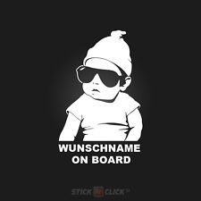 Wunschname on Board Baby Aufkleber hangover sticker Kind an Bord FUN