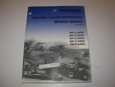 2003 Polaris 340 500 550 600 700 Snowmobile Service Manual with CD , p/n 9918050