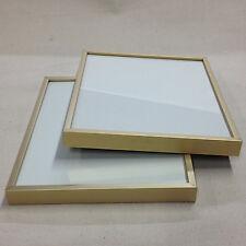 "8""X10"" 2Pcs Brushed Aluminum ""Professional Quick-Change"" Picture Frames"