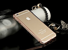 Luxury Crystal Rhinestone Diamond Bling Metal Case Cover For iPhone 6 Samsung
