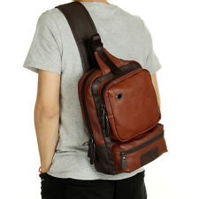 Quality Leather Shoulder Bag Backpack Crossbody Chest Bag Sling Bag