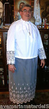 "Alb Vestment Lace Beau Veste Custom Lace on Sleeves 7 1/2"", Lace Bottom 42"""