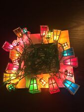VINTAGE CHRISTMAS LIGHTS OLD XMAS PIFCO FAIRY SNOW VICTORIAN LANTERNS 70s RETRO