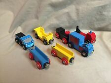 Brio Cars Engines Vehicles Compatible with Thomas Wooden Railway Train Lot of 7