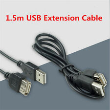 For Laptop 5FT USB 2.0 A MALE to A FEMALE Extension Cable Cord Extender Adapter