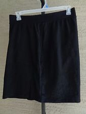 NEW  JUST MY SIZE  WIDE BAND STRETCH WAIST FRENCH TERRY POCKET SHORTS BLACK 5X