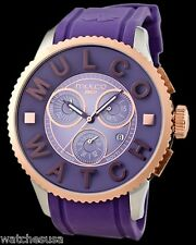 Mulco Unisex MW3-10302-053 Mwatch 3D Collection Purple Silicone Quartz Watch