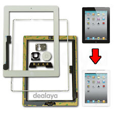 WHITE REPLACEMENT SCREEN TOUCH DIGITIZER FOR IPAD3/4+MID FRAME BEZEL&HOME BUTTON