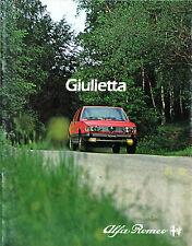 Alfa Romeo Giulietta 1982 French & Belgian Market Sales Brochure 1.6 1.8 2.0