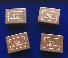 U.S. GOLD DEPOSITORY 24KT GOLD MINIATURE COINS, UNCIRCULATED IN BOX, LOT OF (4)