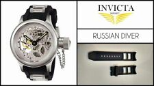 Black Silicone Rubber Watch Band Strap For Invicta RUSSIAN DIVER 26mm