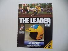 advertising Pubblicità 1984 CASCO HELMET MDS M 85 M85 e MICHELE RINALDI