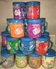 SET/LOT OF 12000 Pieces 10 Jars/1200 each DIY LOOM RUBBER BANDS Rainbow Colors