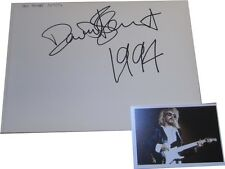 Dave Stewart Eurythmics SIGNED AUTOGRAPH MTVs Most Wanted Guest Book Page AFTAL