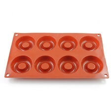 8Cavity Silicone Donut Baking Cake Chocolate Soap Candy Jelly Mold Mould Pan US