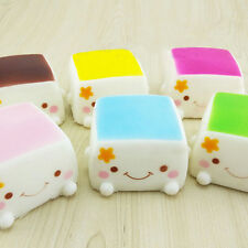 Cute Soft Chinese Squishies Tofu Expression Smile Face Cell Phone Keychain FG