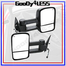 99-02 Silverado Sierra Pickup Towing POWER HEATED Telescoping Mirrors Set Tow