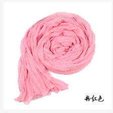 Vogue Womens Candy Colors Wrinkle Cotton Blend Girl Scarf Wrap Shawl 23 Color