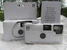 10 PLAIN WHITE COLOR FILM DISPOSABLE WEDDING CAMERAS party Favors 35mm 27exp