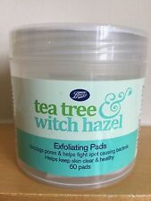 Tea Tree & Witch Hazel 60 exfoliating face cleansing pads  BOOTS UK unisex