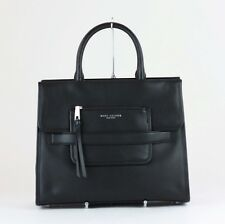 MARC JACOBS Black Leather Madison N/S Tote Bag