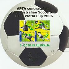 Stamps Australia 2006 football soccer mini sheet APTA overprint MUH, scarce