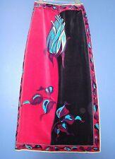 Vtg 60s 70s - EMILIO PUCCI - Iconic Signature Print Couture - Velvet Maxi Skirt
