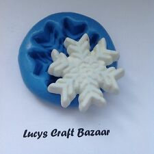 Silicone Mould Christmas xmas snowflake sugarcraft cake decorating sculpey icing