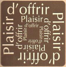 12 Etiquettes stickers 'PLAISIR D'OFFRIR' Coloris TAUPE /  fêtes et cadeaux ROC2
