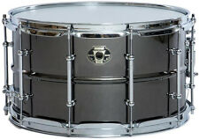 "Ludwig Black Magic 8x 14"" Black Nickel Brass shell snare drum w/ chrome LW0814C"
