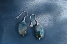 Ajoite and Papagoite Earrings helps one speak with clarity 4836