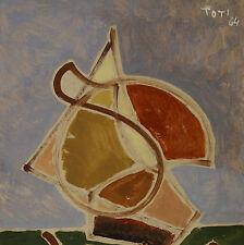 Toti Carlo Lucca Il Vento nelle Vele Barca  cm 16 x 23 Marina