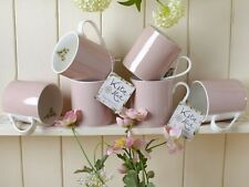 Set of 6 KATIE ALICE Cottage Flower PINK SPOT Shabby Chic MUGS Vintage Inspired