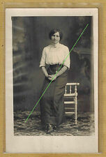 Carte Photo vintage RPPC Creuse St Silvain Montaigut Valentine Chazette pz0188