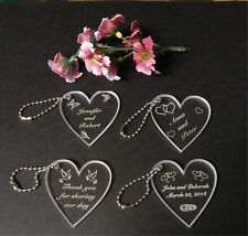 Custom Acrylic Heart Wedding Key Chain Favors Qty of 100 keychain Designs