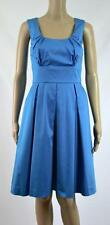 New Calvin Klein Women's  Cerulean Scop Neck Pleated Flared Dress Size 10 $119#