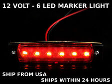 Motorcycle Bike Cargo Boat Trailer Truck Car Led Marker Light Red